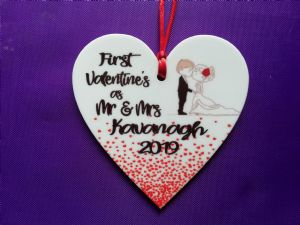 Personalised Valentine/Love Hanging Ornament Design 1
